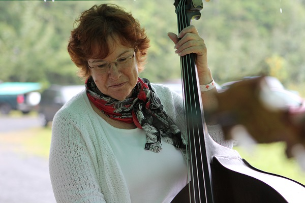 photo of Last Small Town double bass and vocalist, Janyce Hess